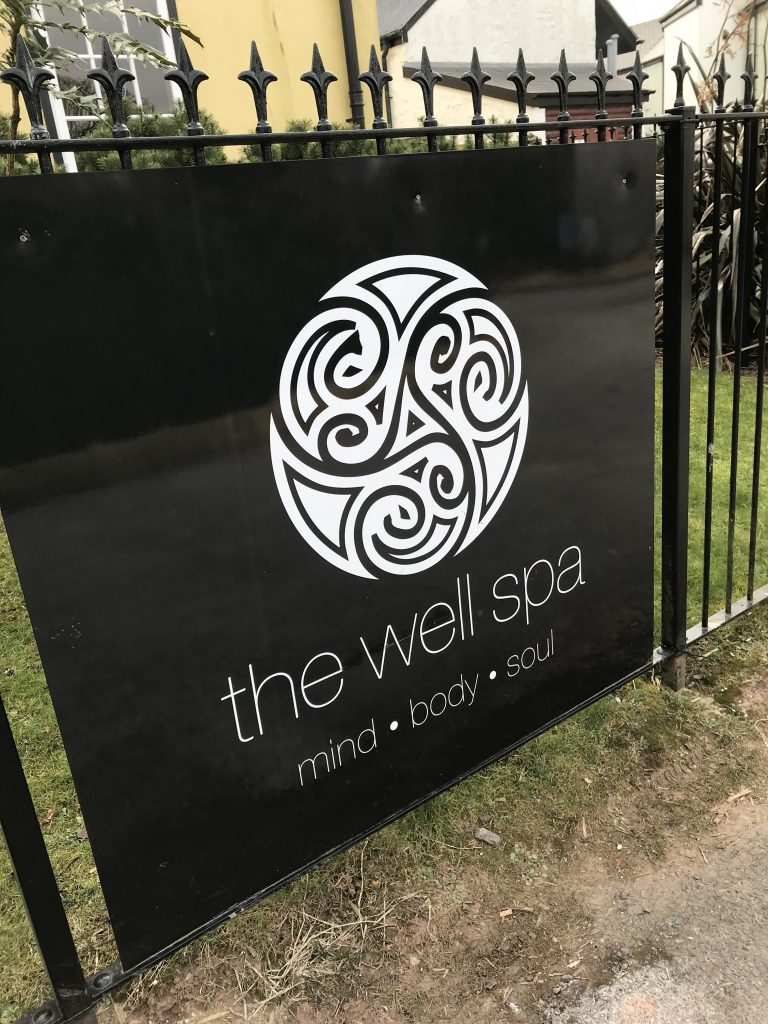 The sign at the Well Spa at Bluestone