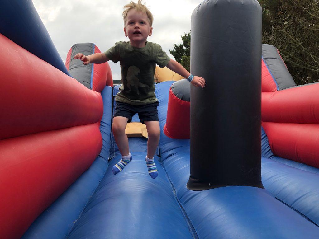 Bouncy castle at Trevornick