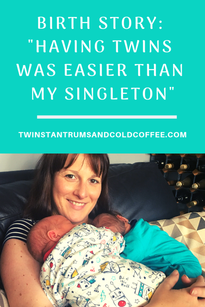 giving birth to twins was easier than a singleton