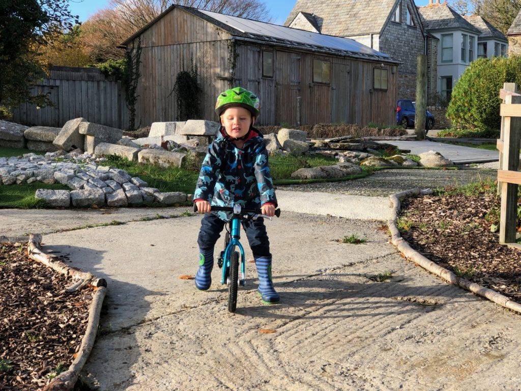 Balance bike at Tredethick