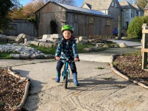Balance bike at Tredethick