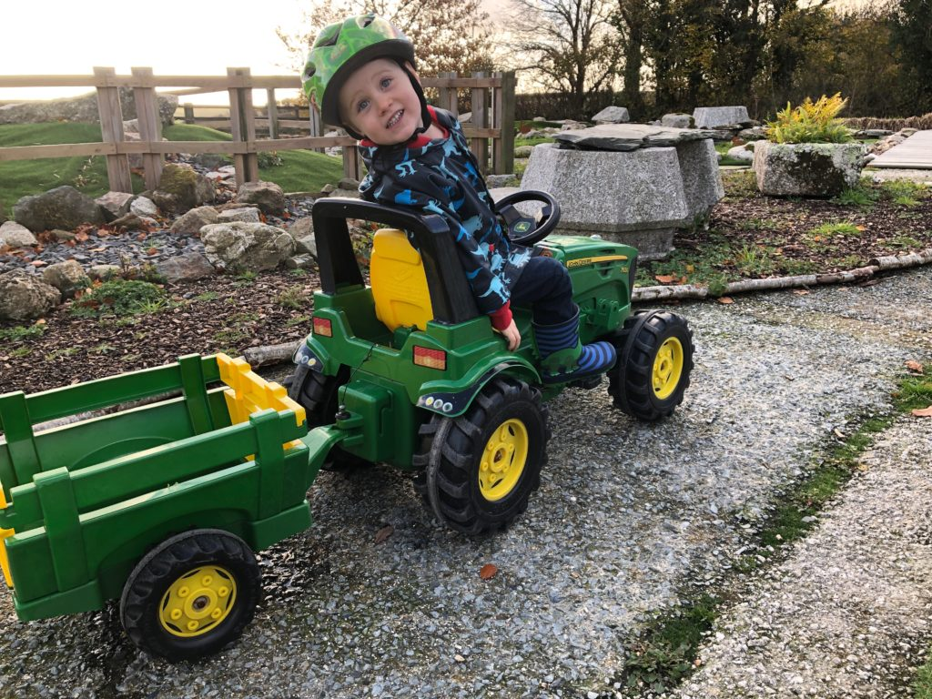 Ride on tractors at Tredethick