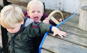 Twins at Tredethick play park