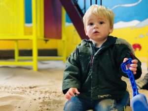 Twins at Tredethick play barn