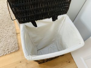 empty washing basket