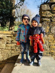 preschoolers at Saltram