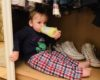 Twin hiding in wardrobe for #ItsOK linky post