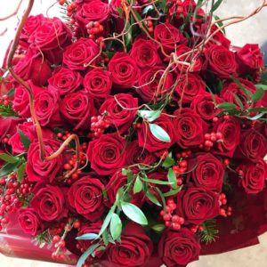 Red roses for Valentine's Day from Hannah Burnett Florist