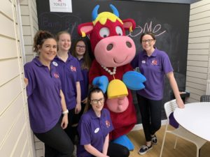 Staff at the new Moo Music cafe