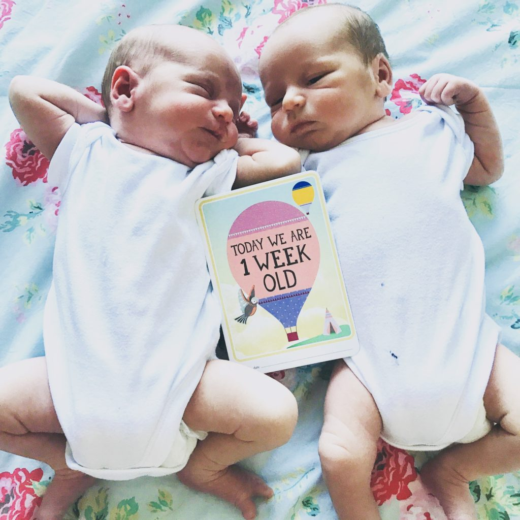 One week old twins