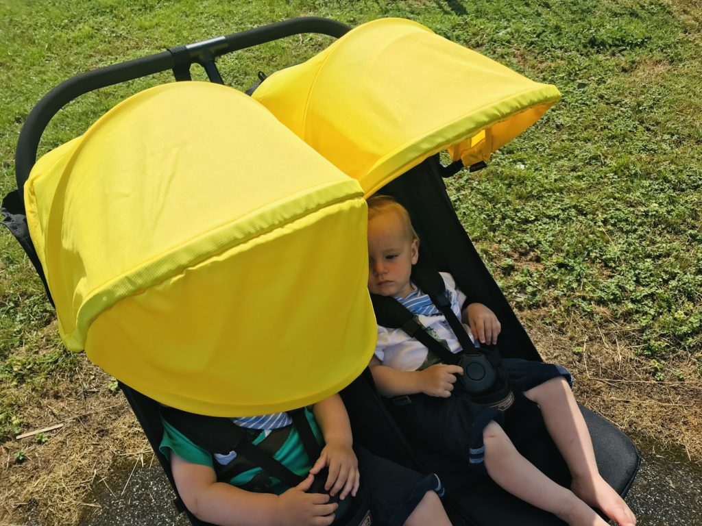 The sunhood on the buggy is excellent