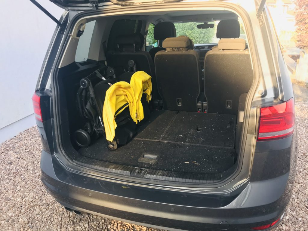 The Mountain Buggy Nano Duo fits easily in the car boot