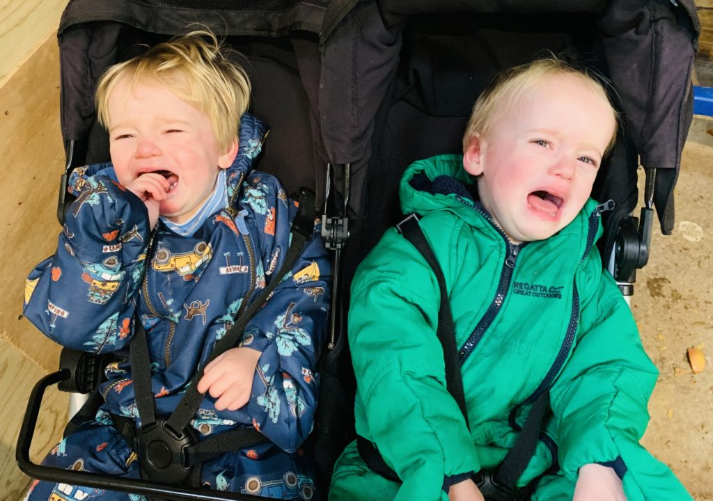 Brothers crying for mum