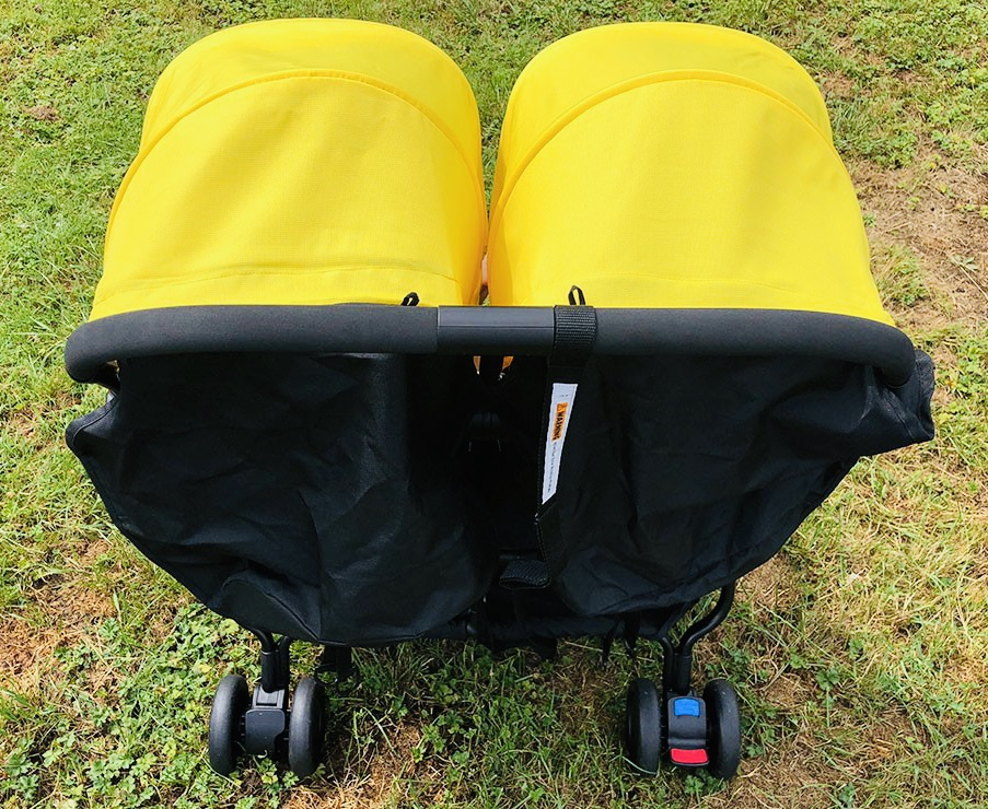 The push handle of the Mountain Buggy Nano Duo stroller