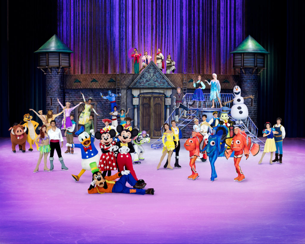 Disney characters take part in Disney On Ice performance