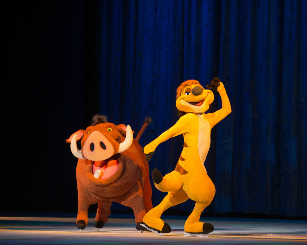 Lion King characters perform in Disney On Ice