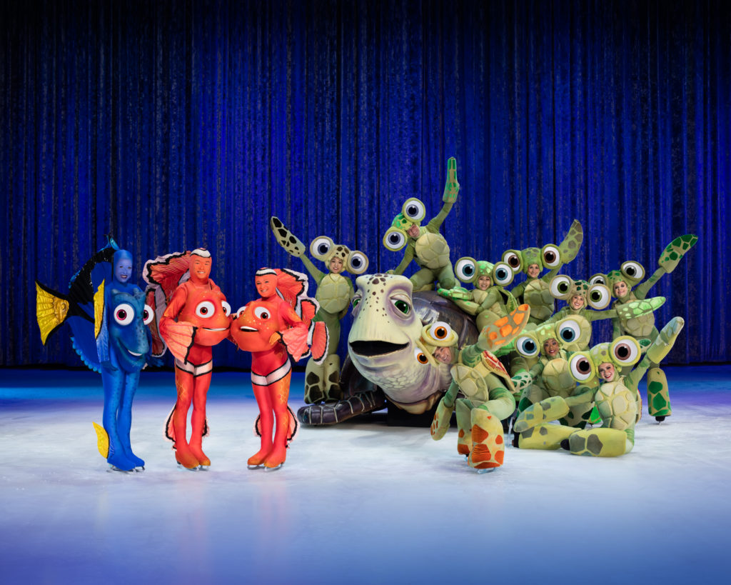 Finding Nemo characters perform in Disney On Ice
