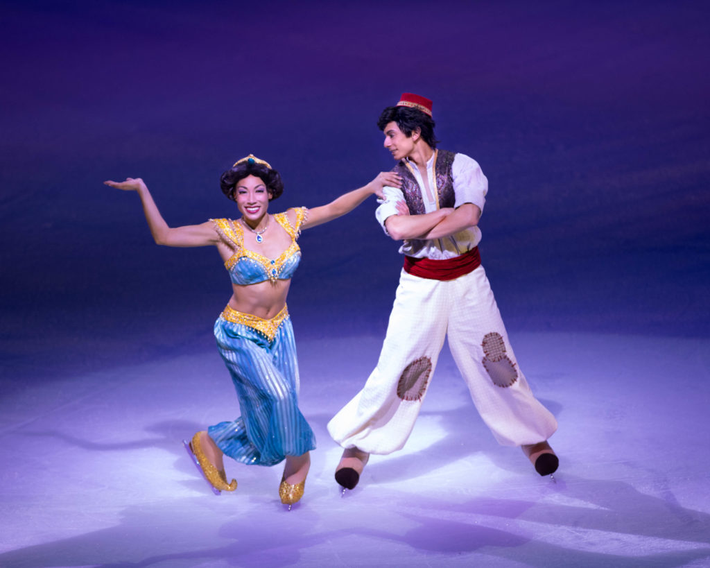 Aladdin characters perform in Disney On Ice