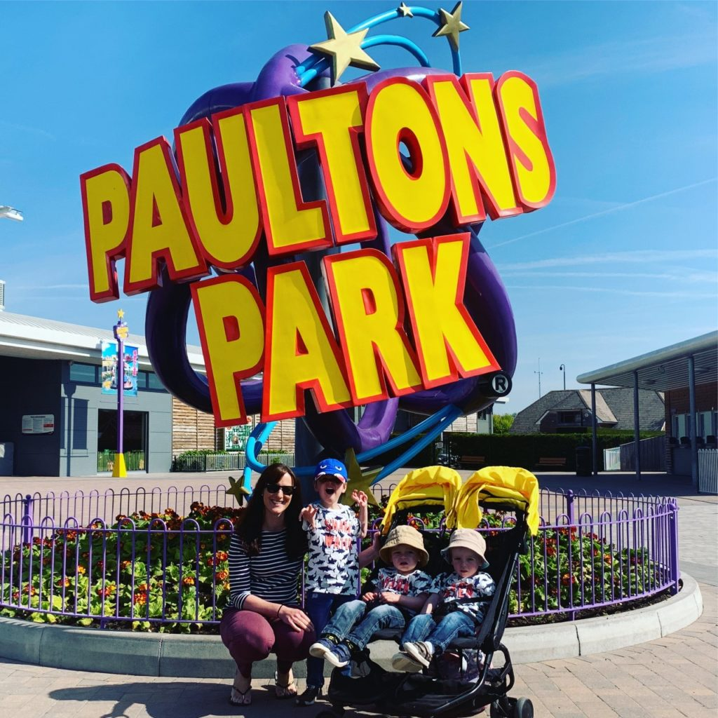 Family arrive at Paultons Park