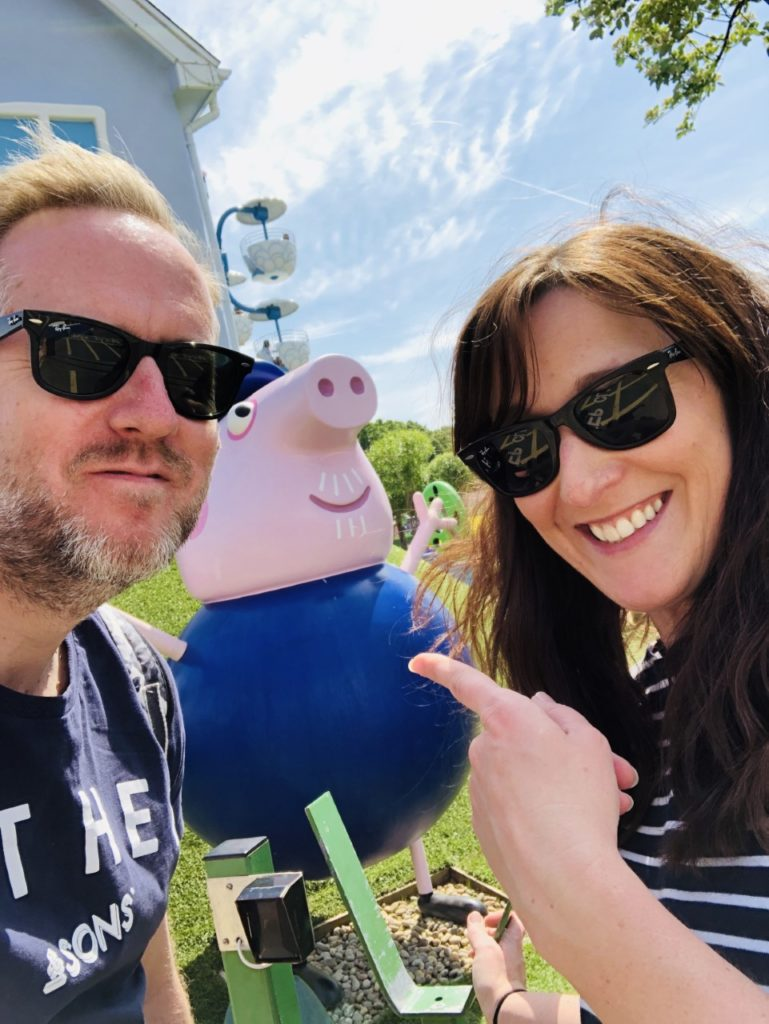 Helen and Nick Copson at Peppa Pig World