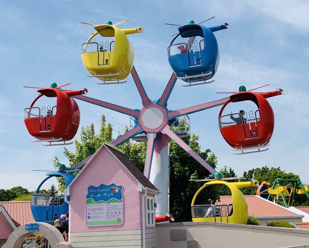 Helicopter ride at Paultons Park