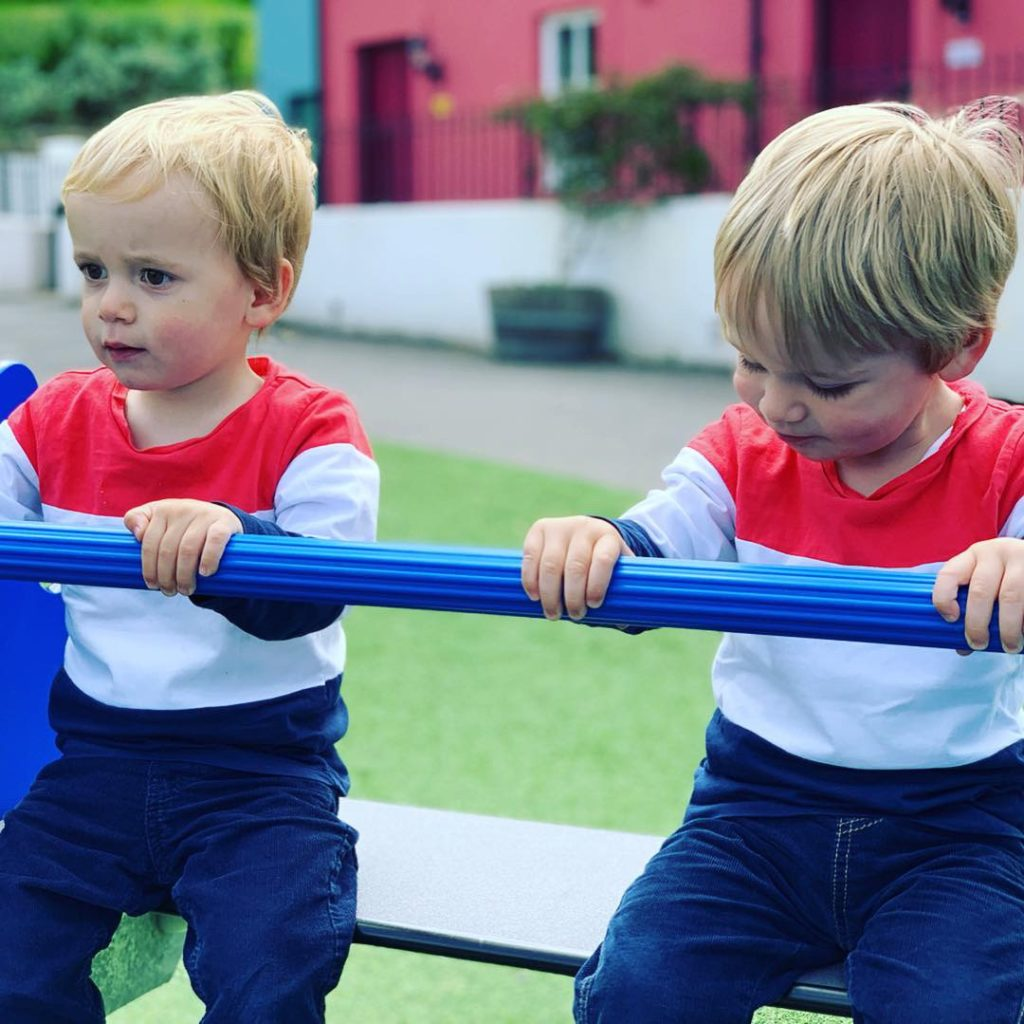 Twins on a seesaw at Bluestone