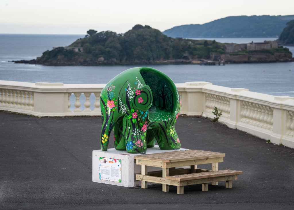 Elephant sculpture painted for Elmer's Big Parade