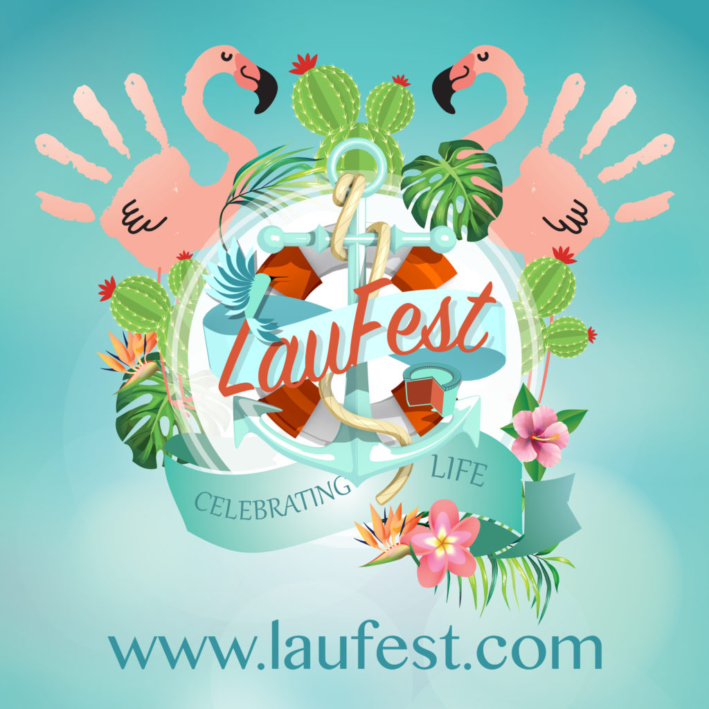 Flyer for LauFest family festival near Plymouth