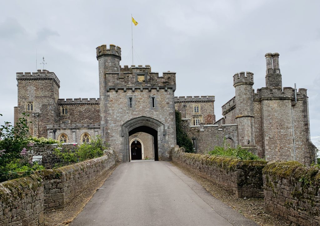 Front of Powderham Castle