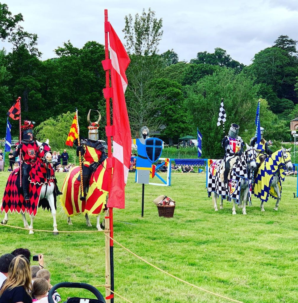 A jousting spectacular at Powderham Castle