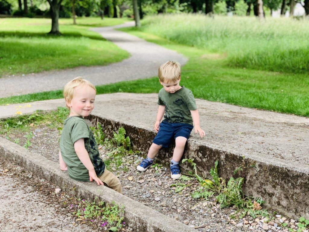 Twins at Saltram national trust gardens
