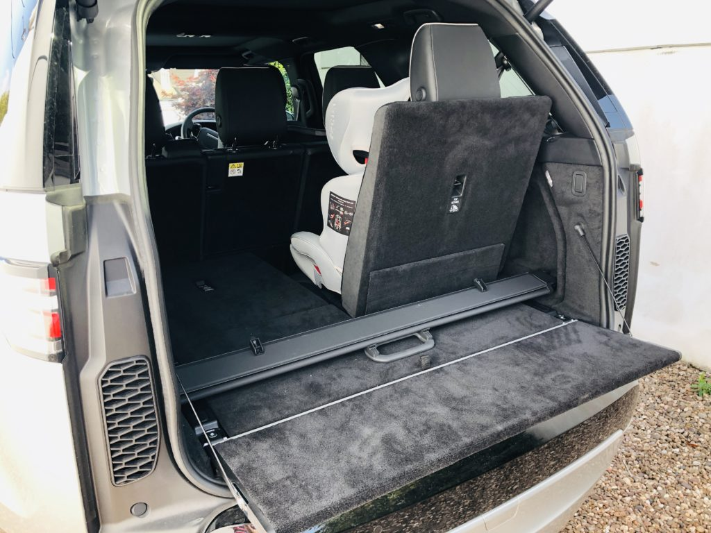 The boot of the Land Rover Discovery