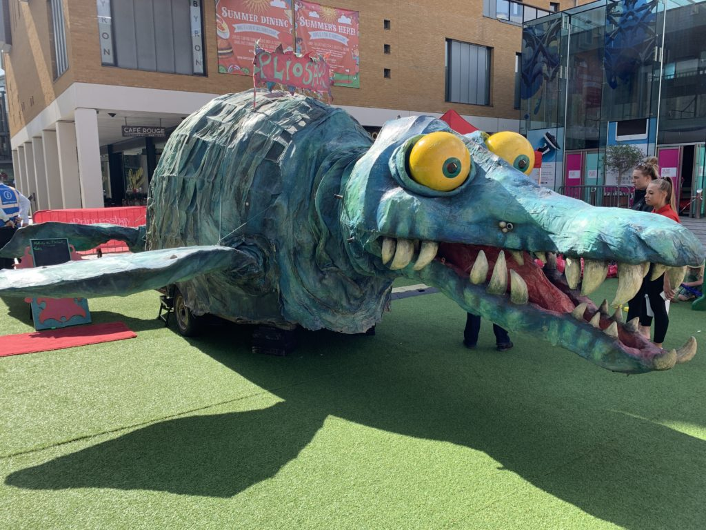 Horace the Pliosaur model at Princesshay
