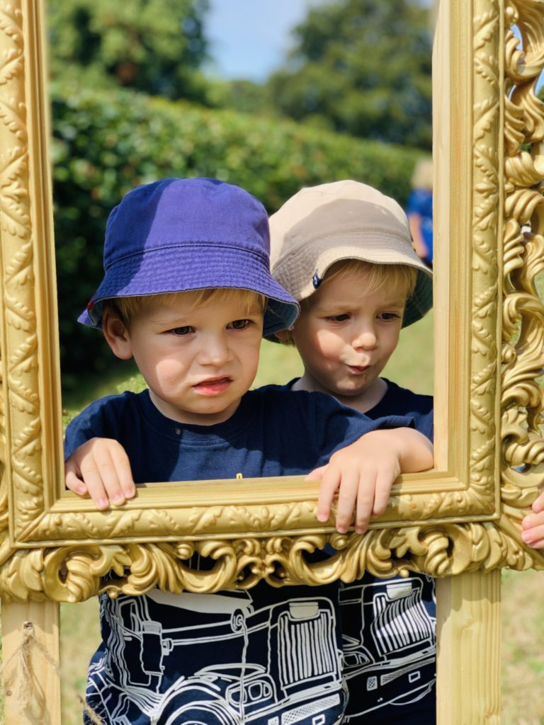 Twins in a photo frame at Saltram