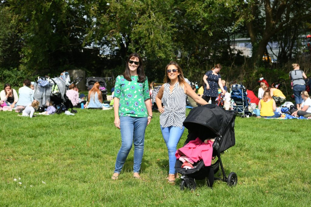 Two mums at a Plymouth picnic