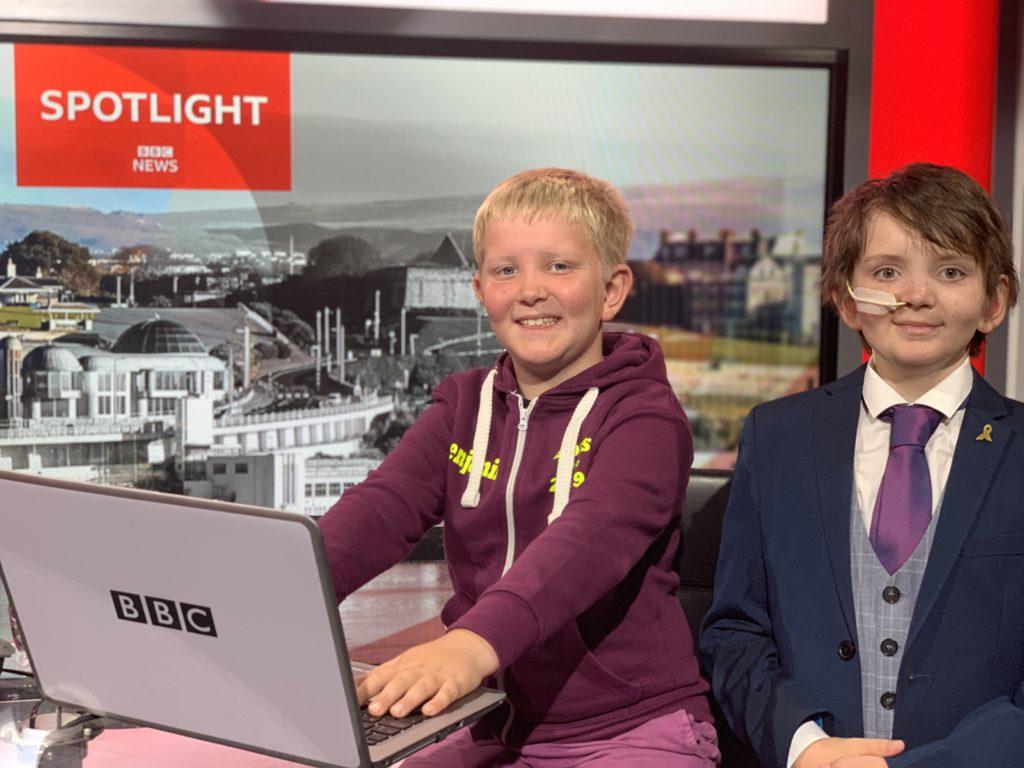 Oliver and Benjamin at BBC Spotlight
