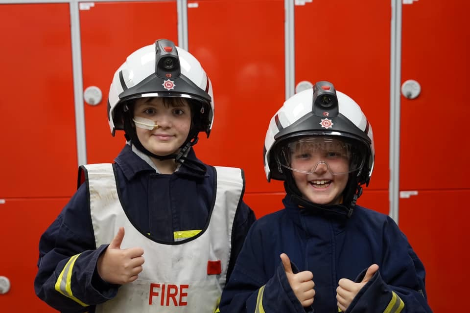 Oliver and Benjamin Brown as fire officers