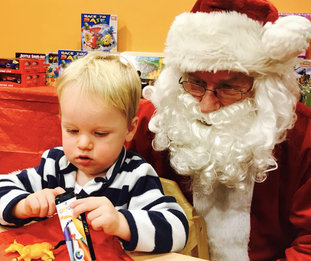 Toddler and Father Christmas