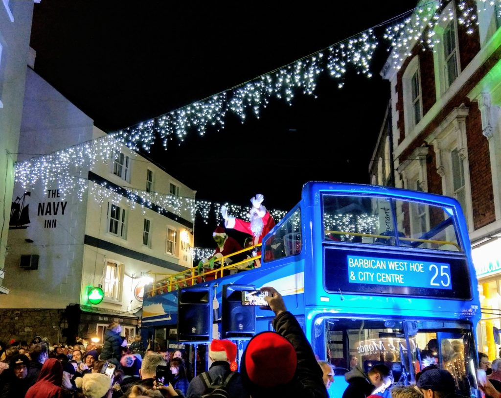 Plymouth Barbican lights switch on