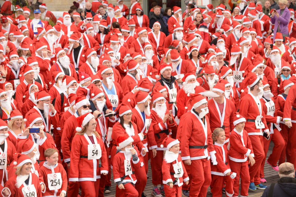 Plymouth Christmas santa fun run