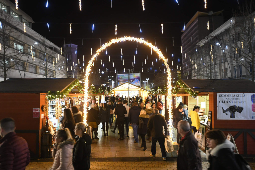 Plymouth Christmas market and lights