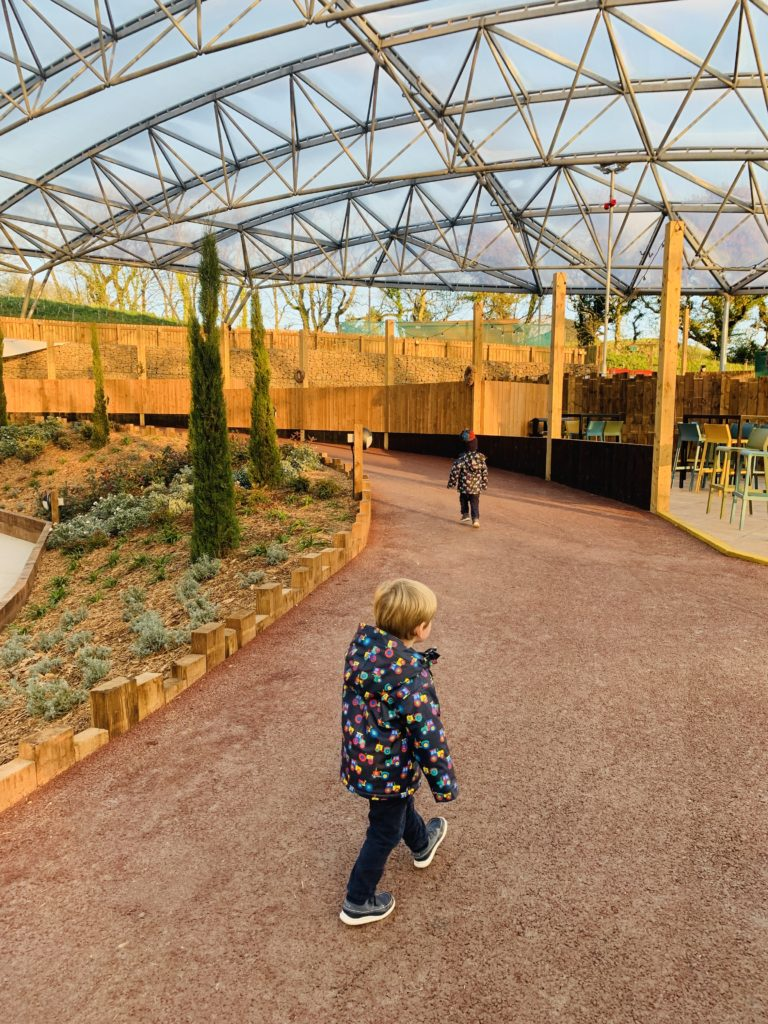 Twins explore inside Bluestone's Serendome
