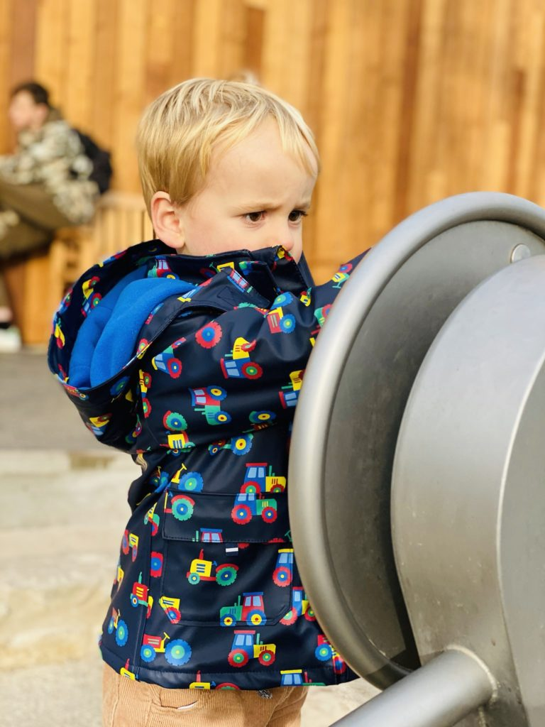 Toddler plays at Bluestone's Serendome