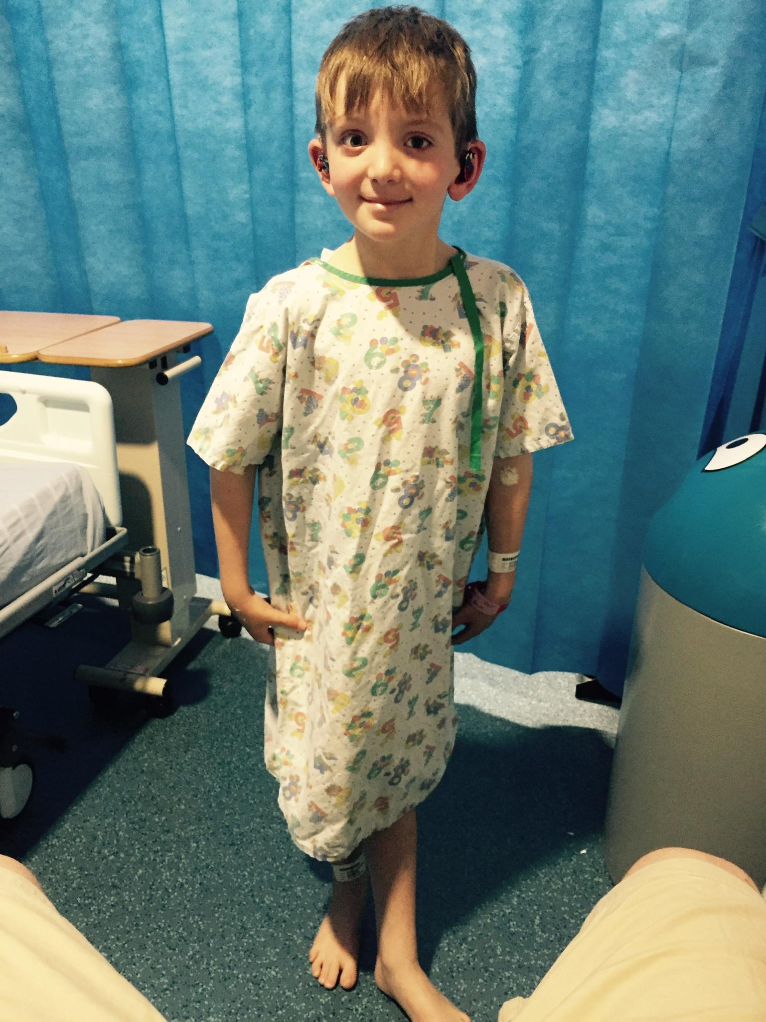 Oliver in hospital
