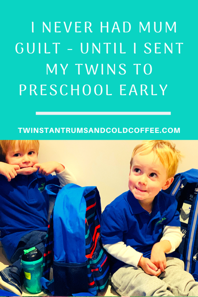 I never had mum guilt until I sent my twins to preschool early