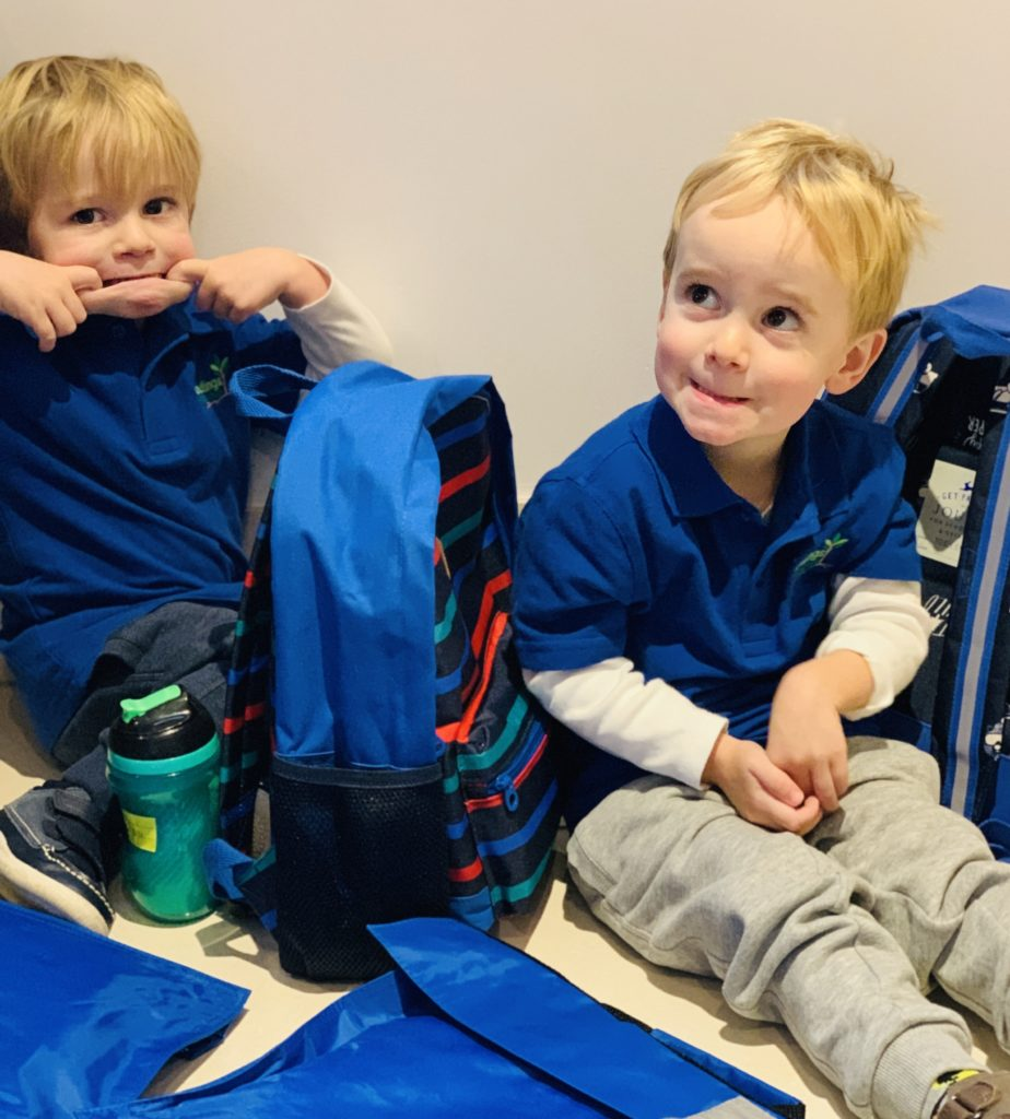 Mum guilt over sending twins to preschool early