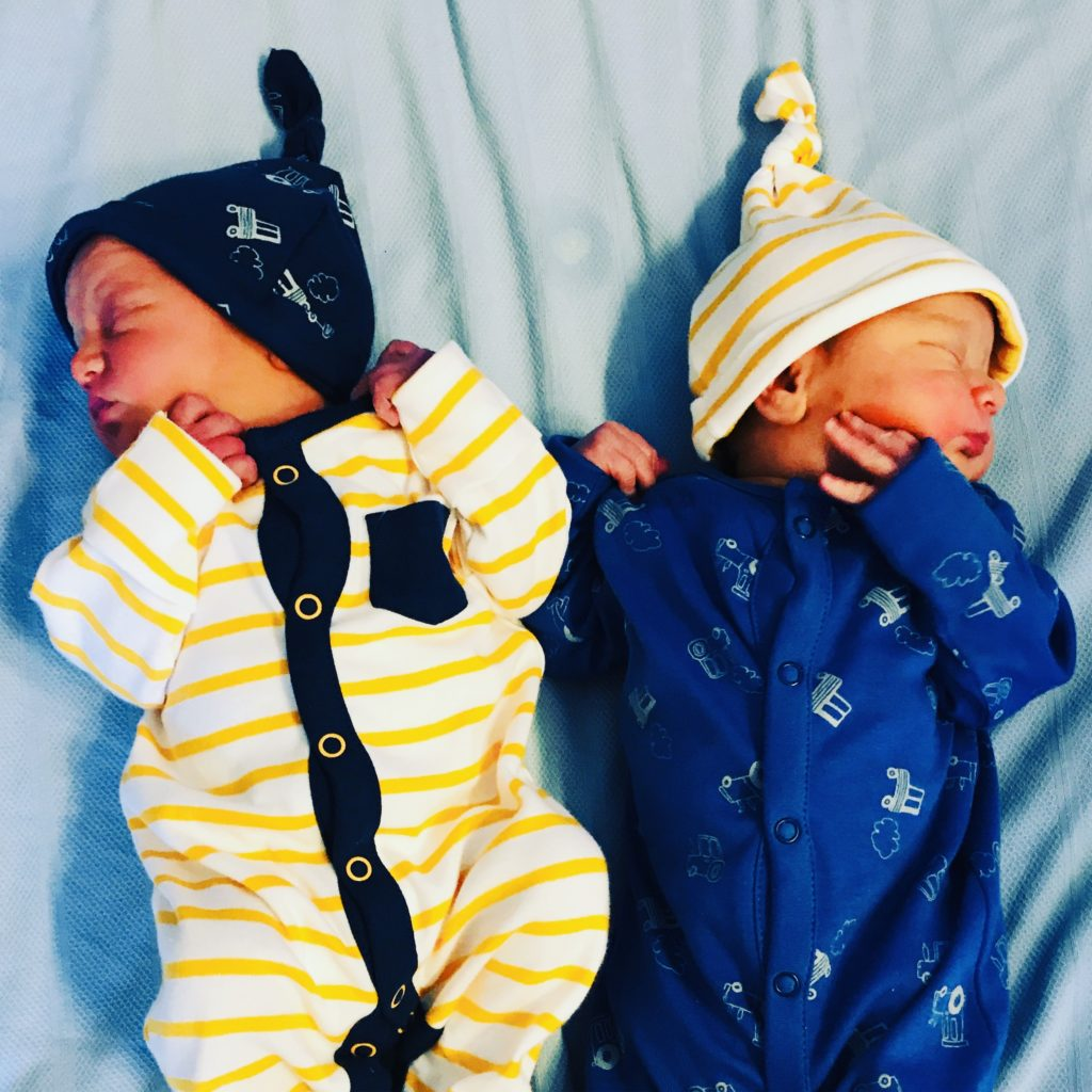 Newborn twins who had colic