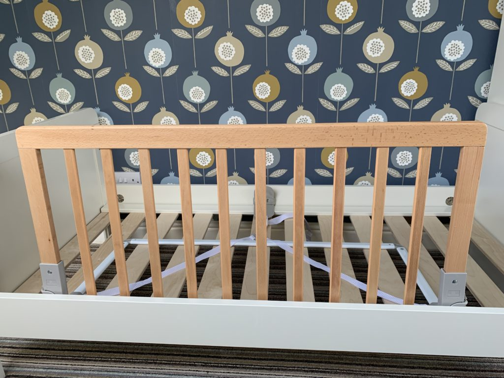 Baby Dan bed rail fits under the mattress