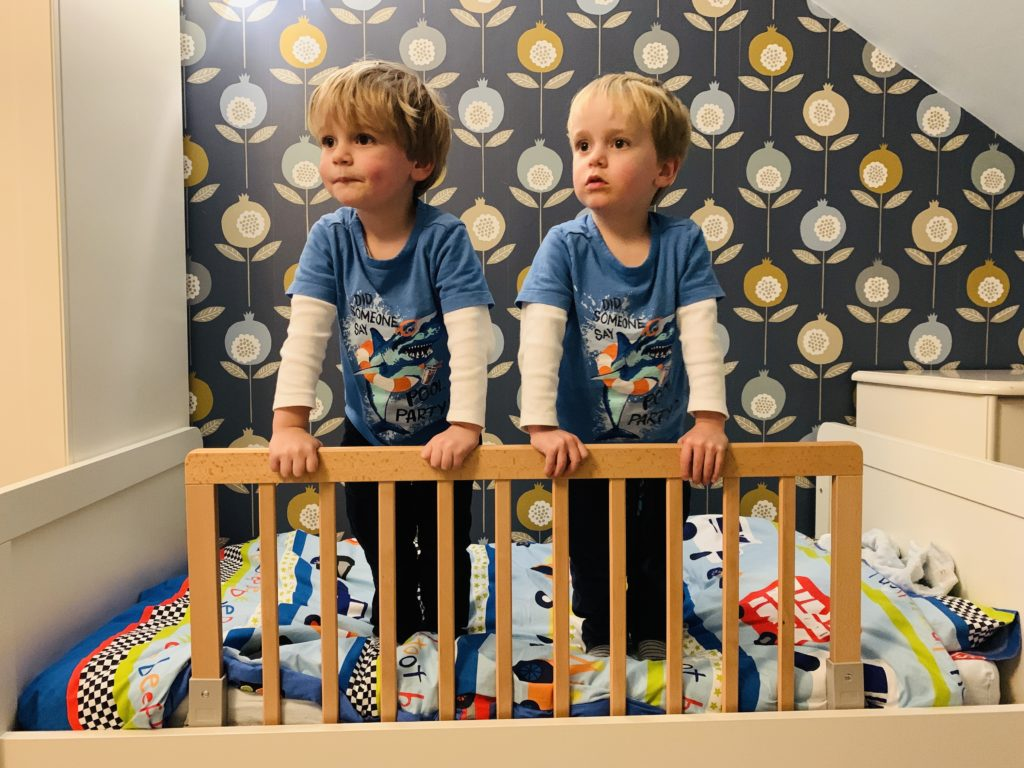 Twins with Baby Dan bed rail