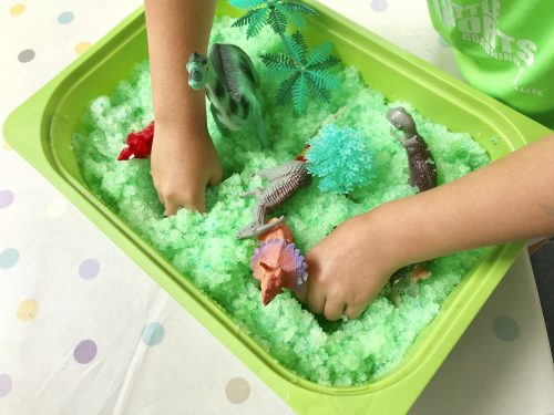 dinosaur activity tray